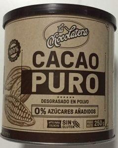 cacao puro desgrasado sin azucares anadidos mercadona
