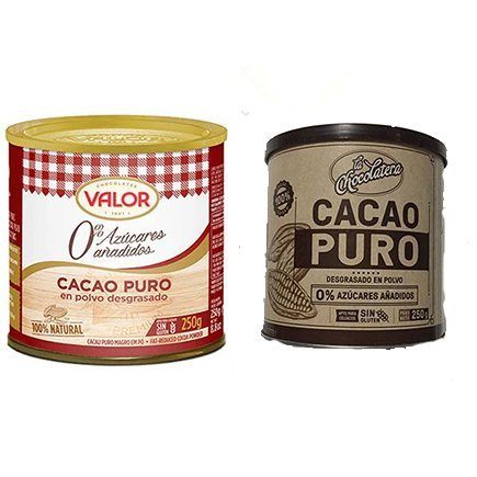 Valor nutricional del cacao en polvo
