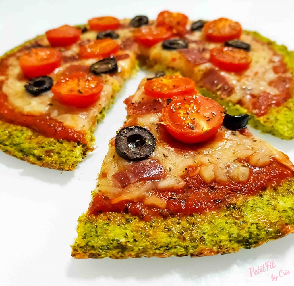 pizza base de brocoli