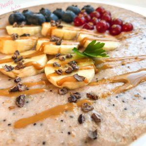 porridge de fresa con semillas