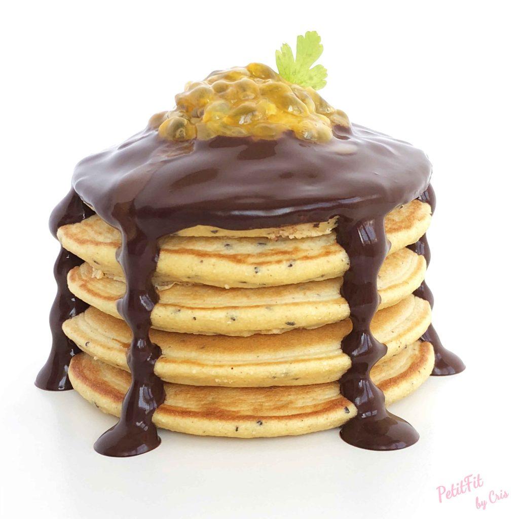 tortitas de maracuyá con crema de cacao