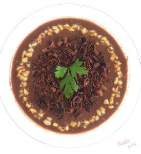natillas proteicas de chocolate y avellanas