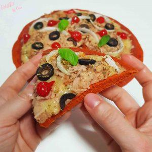 pizza base de pimientos del piquillo y espelta integral