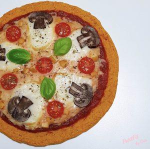 pizza base de zanahoria