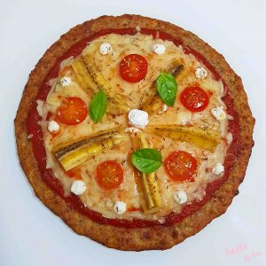 pizza con base de platahute