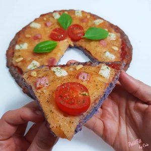 pizza base de patata violeta