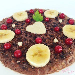 porridge platano y cacao