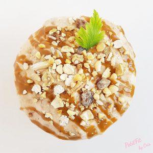 ice cream porridge de plátano y crema de cacahuete