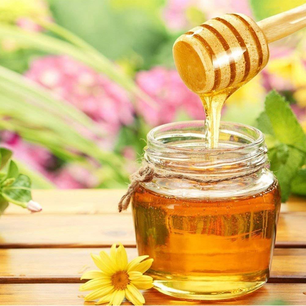 Mini Para Miel Dispensaci/ón Recogida Agitaci/ón de Varilla de Miel Juego de 8 Fyuan Mini Cuchara de miel 3,2 pulgadas de astillas de madera Para Miel Varilla de Agitaci/ón Port/átil