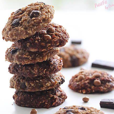 cookies veganas de dos sabores