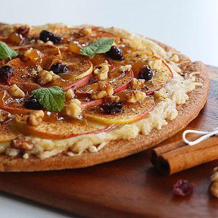 pizza dulce tarta de manzana